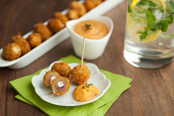 Fried stuffed olives. | Cocktail party IDEAS! | Pinterest