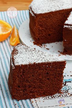 Torta acqua, cioccolato e arance