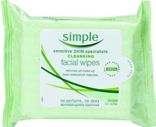 Face wipes. I got these from safeway/woolworths but you can buy them online too.  Www.woolworths.com.au http://www.simpleskincare.com.au/