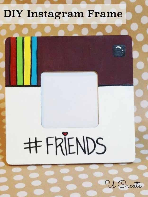 Cool Crafts You Can Make for Less than 5 Dollars | Cheap DIY Projects Ideas for Teens, Tweens, Kids and Adults | DIY Instagram Frame | diyprojectsfortee...