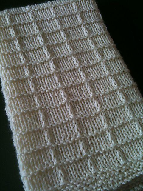 Ravelry: Waffle Preemie Blanket by Lisa Thomas