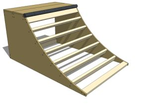 How to Build a Skateboard Quarter Pipe Ramp: How to Build a 3' Quarter Pipe: Attaching the Deck