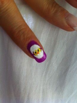 Nail art Easter chick