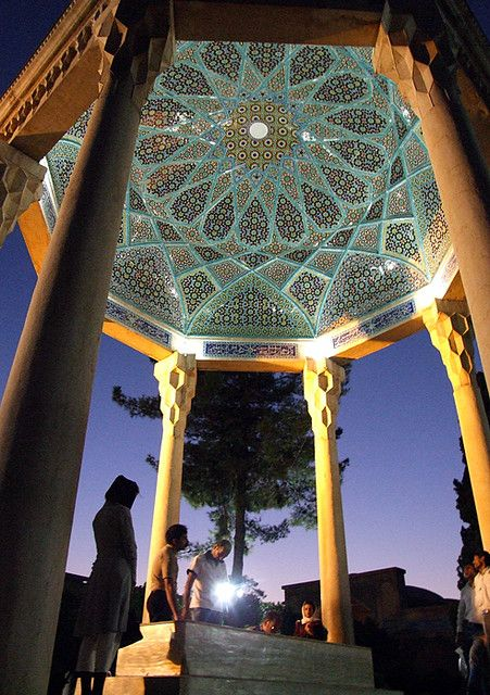 Hafez's tomb-Shiraz,Iran a beautiful building that reflects the beauty of poetry