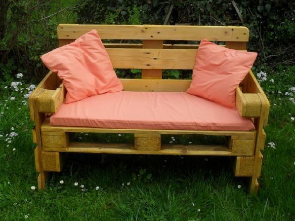 sitzbank eur paletten gefertigt. Black Bedroom Furniture Sets. Home Design Ideas