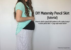 I Married Superman: DIY Maternity Pencil Skirt {Tutorial} for Sew-a-bration of Women