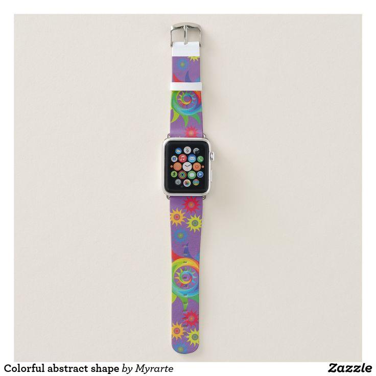Colorful abstract shape. Producto disponible en tienda Zazzle. Accesorios, moda. Product available in Zazzle store. Fashion Accessories. Regalos, Gifts. #reloj #watch #bands
