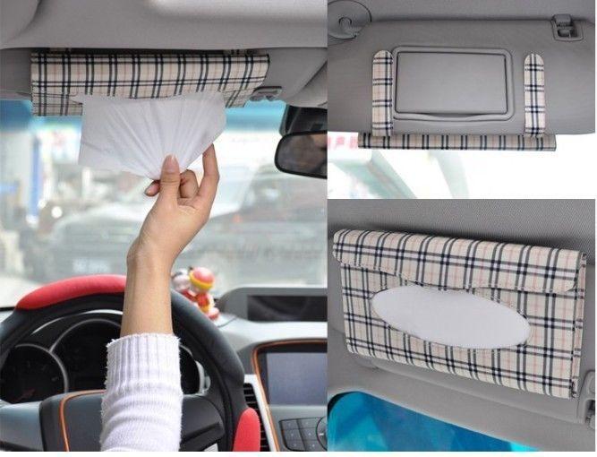 Accessories Car Sun Tissue Box Holder Napkin Bracket Paper Seat Clip Auto Visor