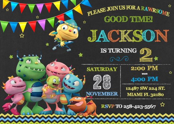 Henry Hugglemonster Invitation Birthday Henry by LuckyPixel