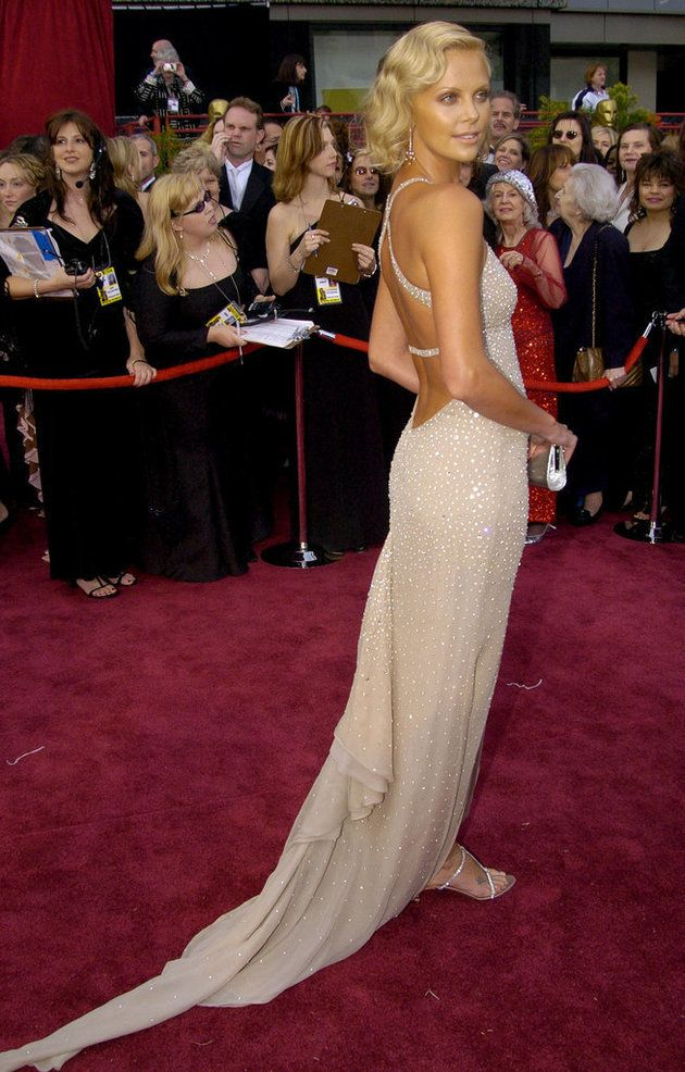 Charlize Theron in Gucci at the 2004 Oscars. A throwback to the days of proper, straightforward wham-bam Hollywood glamour.