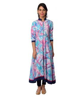 women's multicolor #anarkali #kurti at just 699. High quality rayon fabric. FREE shipping and COD Available.  http://bit.ly/2pmnLaX