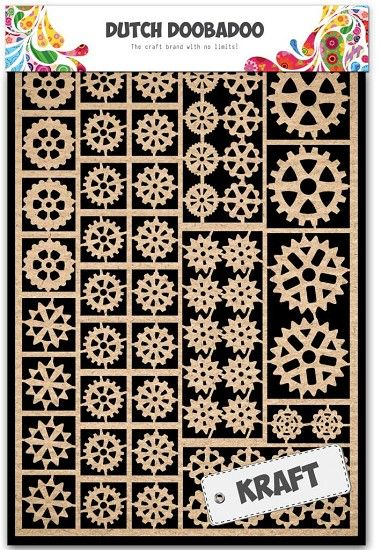 479.002.001 Dutch Doobadoo Paper Art Gears Kraft