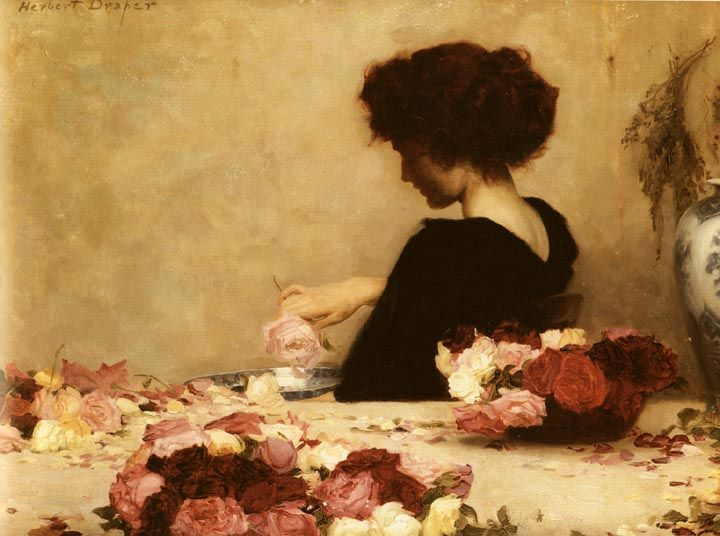 Pot Pourri by Herbert James Draper, 1864-1920. 1897. Oil on canvas, 51 x 68.5 cm. Tate Gallery, London.