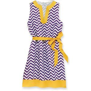 Game Day Dress - Purple and Gold - -I saw a chick in this exact dress at the UNC vs. ECU game this past saturday (9/22/12) -LOVED it even more in person