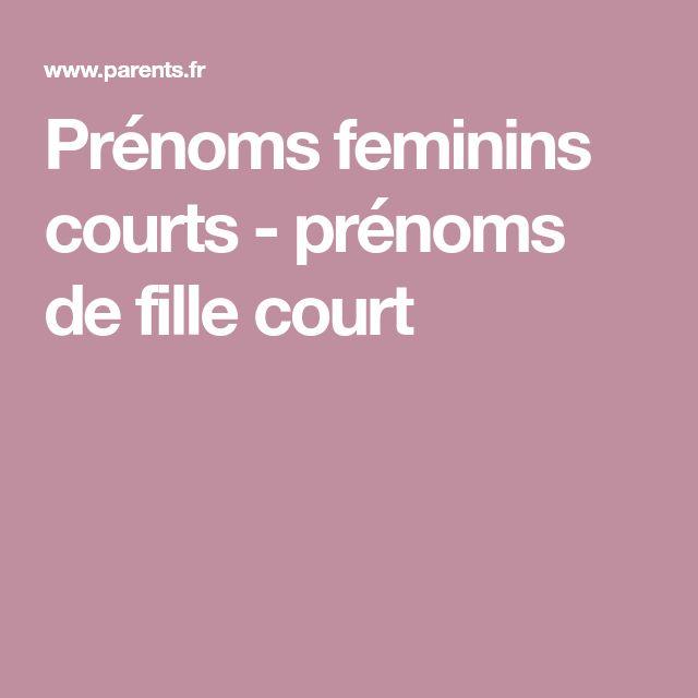 Prénoms feminins courts - prénoms de fille court