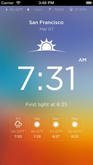 Sunset/Sunrise Alert - find a free one