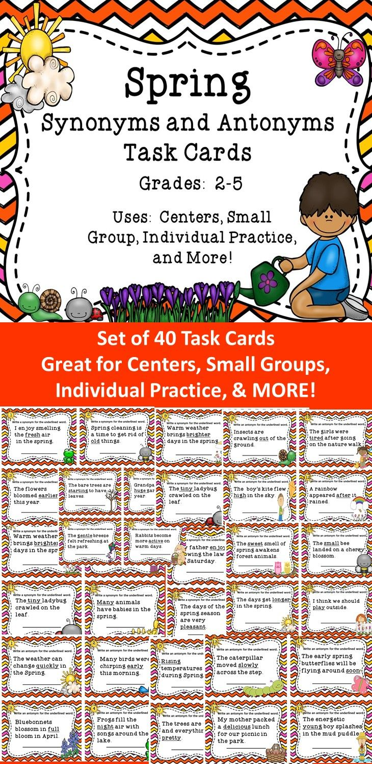 Worksheet Synonym For Giving In 1000 ideas about synonyms and antonyms on pinterest speech these spring synonym task cards will be a great supplemental resource for students