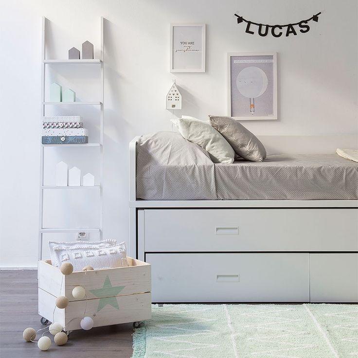 M s de 1000 ideas sobre dormitorio del tren en pinterest for Cama nido con cabecero