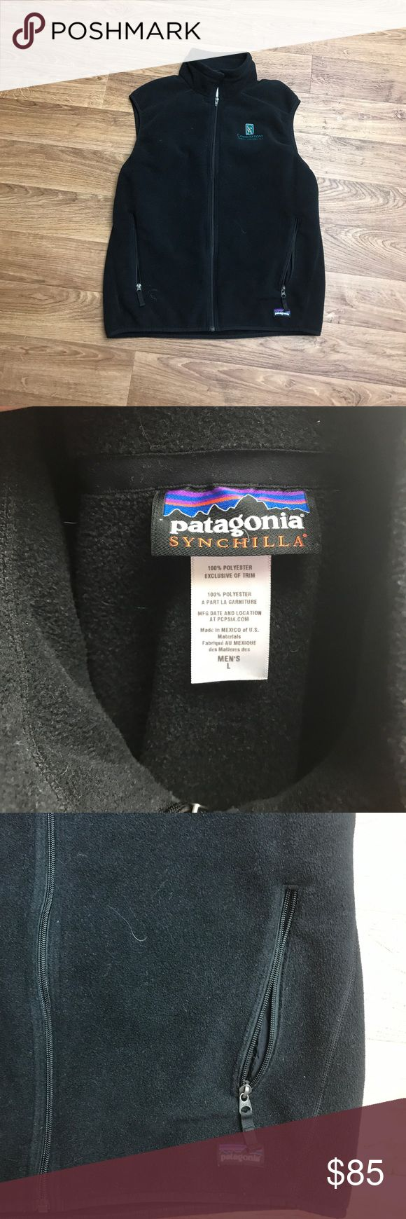Men's Synchilla Patagonia Vest Large Great vest. Husband got it as a gift. It's my understanding that this fleece isn't available for sale. No holes. No rips. No stains. 10/10 condition. Has company logo on it. Open to all offers!!! Taking up space in closet. Patagonia Jackets & Coats Vests