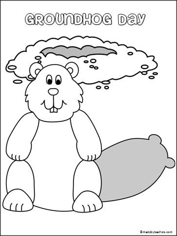 groundhog day coloring pages preschool - photo#19
