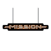Mission Archery Apparel Store: Mission Double Sided Lighted Sign