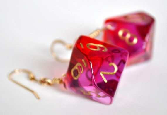 Hey, I found this really awesome Etsy listing at https://www.etsy.com/listing/125235756/dice-earrings-d10-dice-jewelry-red-and