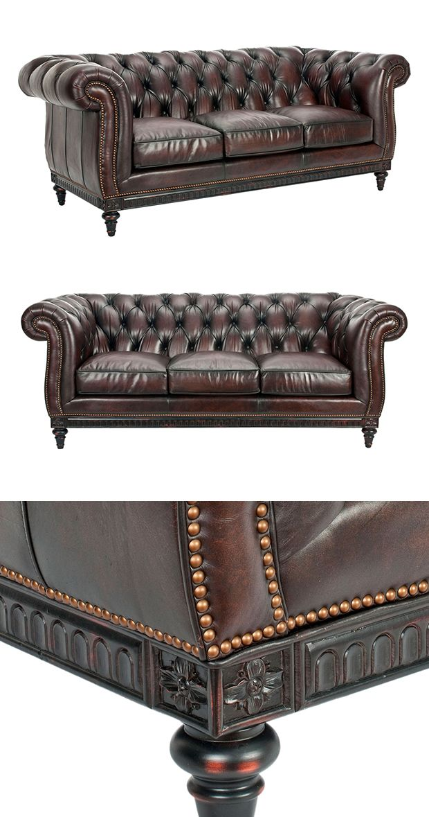 Indulge your love of classic sophistication with this delightful Penelope Chesterfield Sofa. Designed for impact, the Penelope makes a true style statement with tall rolled arms and interior button tuf...  Find the Penelope Chesterfield Sofa, as seen in the The Vintage Express Collection at http://dotandbo.com/collections/the-vintage-express?utm_source=pinterest&utm_medium=organic&db_sku=118298