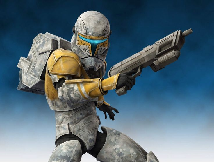clone commando, also known as a Republic commando and later an Imperial commando, was an elite soldier of the Grand Army of the Republic and later the Stormtrooper Corps. Often working in groups of four, clone commandos were assigned to carry out covert operations too delicate for regular clone troopers. Covert infiltration, sabotage, demolition and assassination were standard tasks for the clone commandos.
