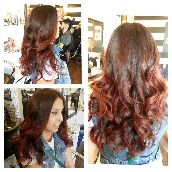Red Brown Mahogany Ombre By Dedra Sumaylo Beauty Lounge