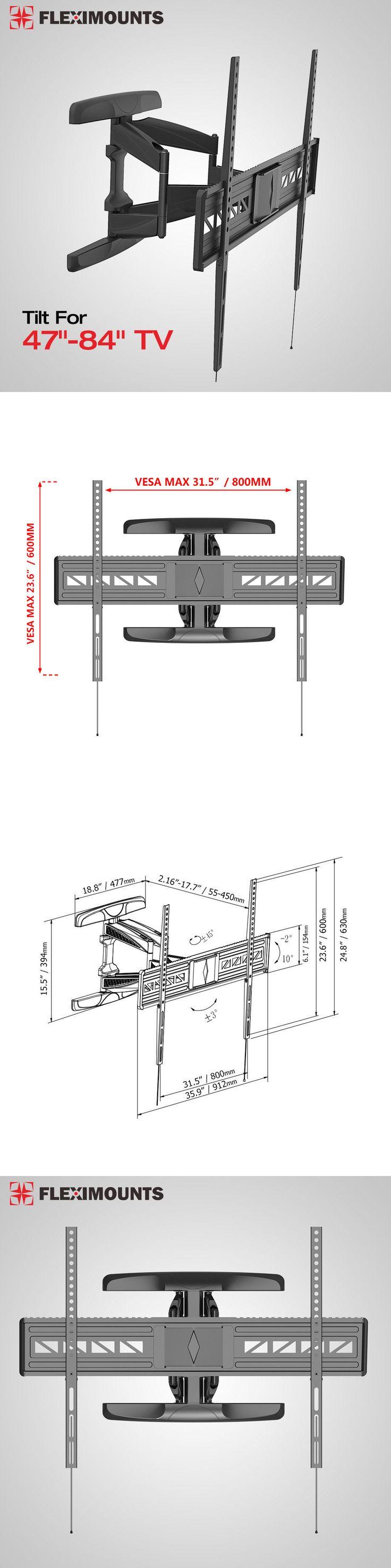 TV Mounts and Brackets: Articulating Tilt Oled Led Hd Tv Wall Mount Bracket 47 65 70 80 84 For Samsung BUY IT NOW ONLY: $74.99