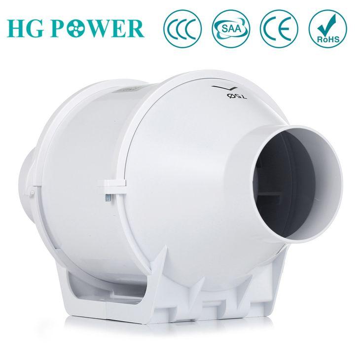 Free Ship 3 75mm Inline Duct Fan Hydroponic Bathroom Extractor Fans Ventilation Blower Exhaust Fan For Bathroom Extractor Fan Exhaust Fan Exhaust Fan Kitchen