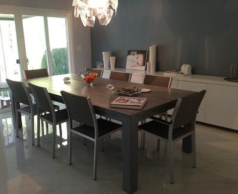 Urban Modern Dining Room  Roca Dining Table Show me modern  This block leg  dining table is our Roca Table in a dark smokey finish. 30 best Urban Modern Interior Design Style images on Pinterest