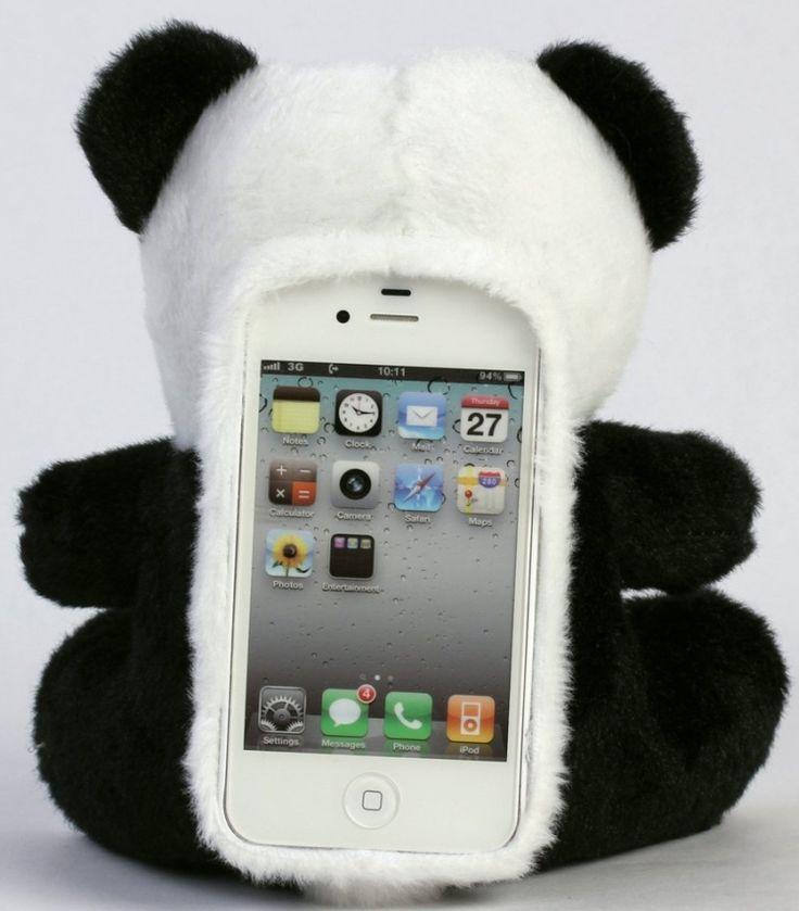 Panda porta telefono peluche