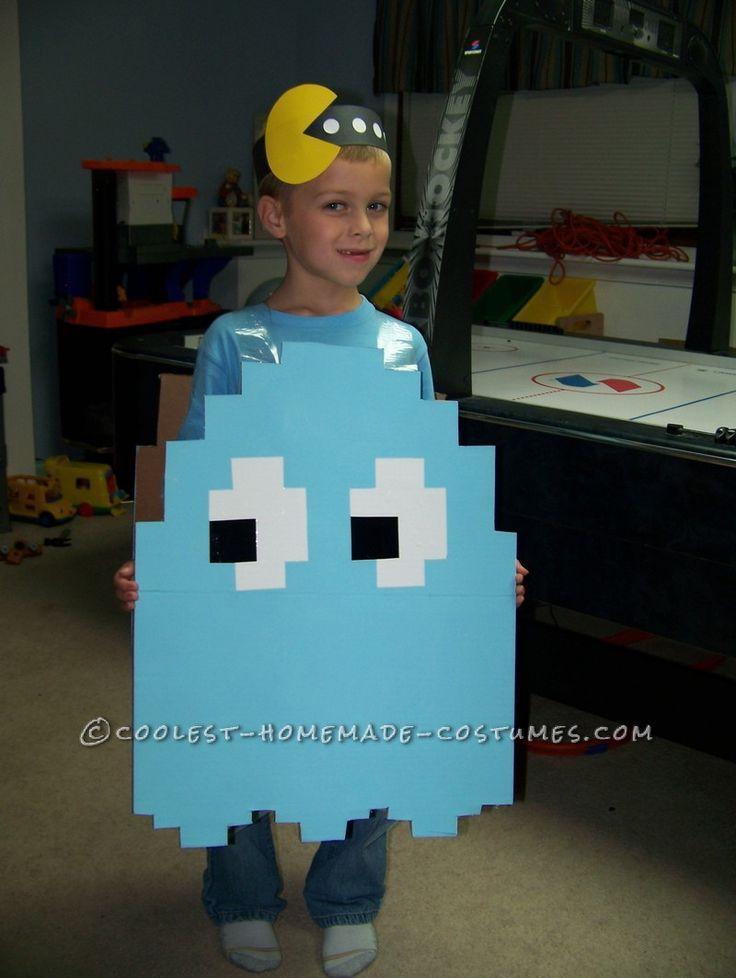 Coolest Child's Light-Blue Pac Man Ghost Halloween Costume