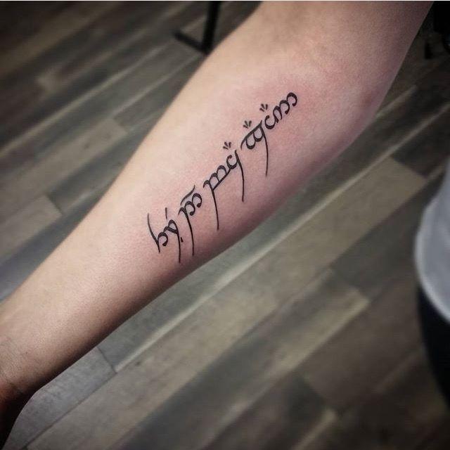 25+ Great Ideas About Hobbit Tattoo On Pinterest