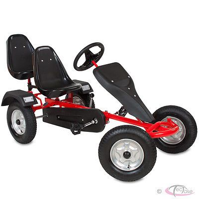 Go kart #pedal 2 #seater ride on car rubber #tires red,  View more on the LINK: 	http://www.zeppy.io/product/gb/2/271258565758/