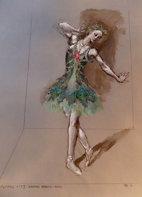Toer van Schayk, kostuumontwerp voor de nimfen in The Sleeping Beauty, Tokyo 2014. Collectie: privécollectie.