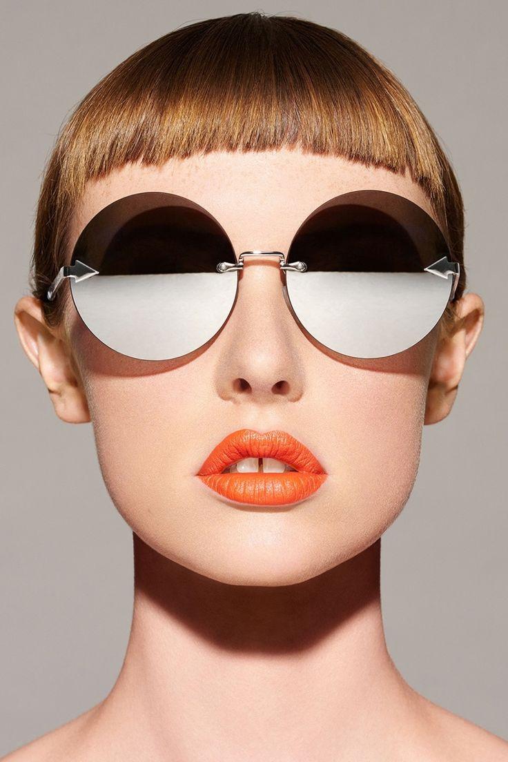 Karen Walker Disco Circus Sunglasses in Silver $250