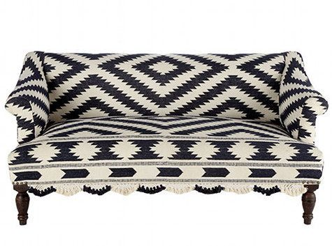geometric...: Upholstered Sofas, Pattern, White Sofas, Black And White, Black White, Graphics, Furniture, Bridal Rugs, White Couch