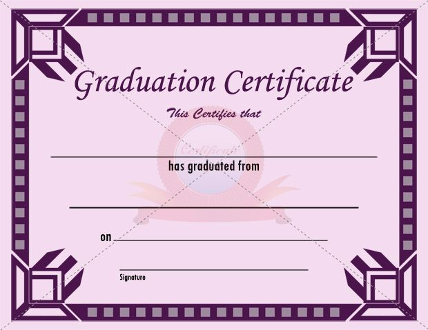 Graduation certificate template new vision pinterest for Graduation gift certificate template free