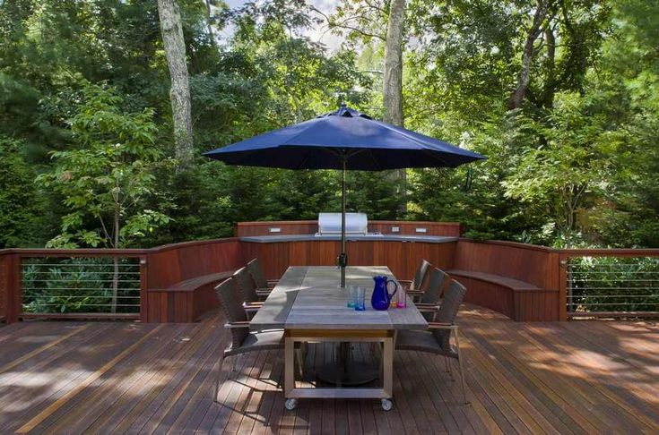 While exotic wood is more stylish in look, have durability in it. This rooftop contemporary deck design with a beautiful wooden furniture set seems great plan for your outdoor restaurants and coffee shops. This is one of the best plans for the outdoor decking of your places.  #garden #gardendesign #gardenideas #gardens #patio #patiodesigns #patiolayout #outdoor #outdoorliving #outdoorspace #backyard #landscape #landscaping #landscapedesign