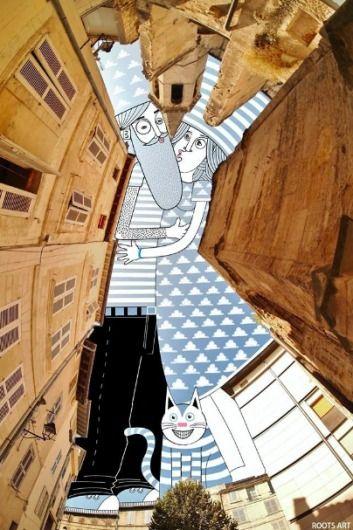 Galeria de Ilustrações surrealistas projetadas sobre edifícios, por Thomas…