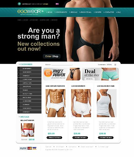 Egowear Store ZenCart Templates by Delta