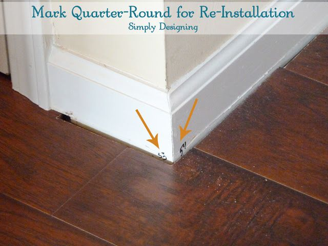 Simply Designing with Ashley: How to Install Floating Laminate Wood Flooring {Part 3}: The Finishing Touches