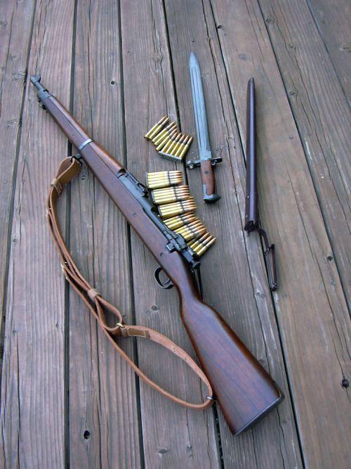 You're not bulletproof..., M1903A1 A classic bolt-action rifle chambered in...