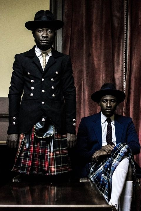 Men in skirts! Namibia hipster