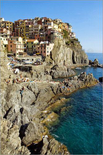 Manarola | Ligurien | Italien Bilder: Poster von Olaf Protze bei Posterlounge.de