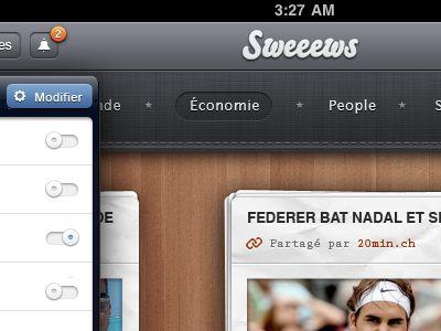 Swiss newspaper reader app for iPad - UI/UX/iOS