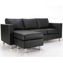 Modern PU Leather Sofa and Chaise Lounge