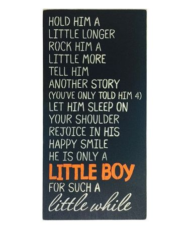 gem stone jewelry Look what I found on zulily    Little Boy   Wall Sign zulilyfinds